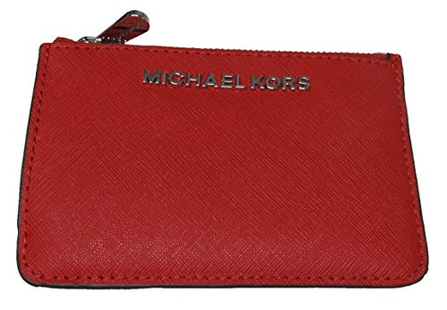 Michael Kors Jet Set Item Small Top Zip Leather Coinpouch with ID (Leather Small Top Zip)