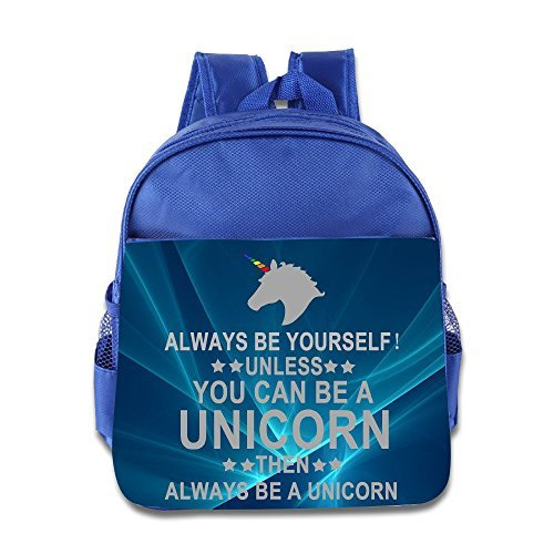 Always Be Yourself Unless You Can Be A Unicorn Kids School Backpack Bag - Chip On The Shoulder Costume