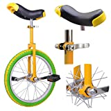 "AW Yellow Green 18"" Inch Wheel Unicycle Leakproof"