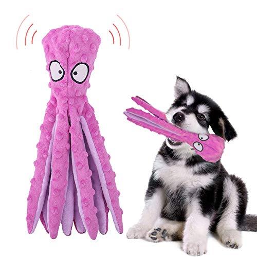 Yisscen Oktopus Plüsch-Hundespielzeug, Intelligenz Kauspielzeug Quietsch Spielzeug für Hunde, ohne Füllung, Gelten für…