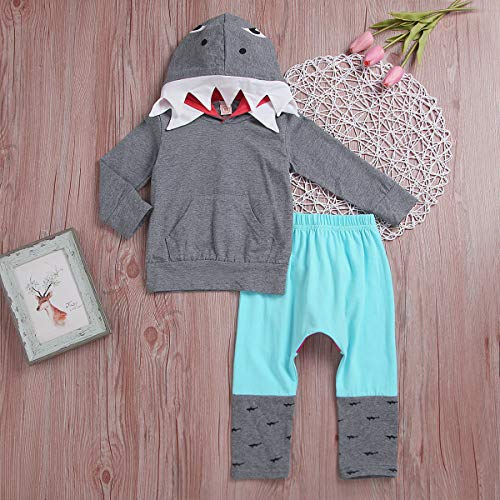 b725fdf88ef2 Unisex Baby Autumn Winter Shark Hooded Sweatshirt Boys Girls Hoodies ...