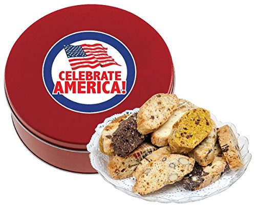 MEMORIAL DAY/ AMERICA BISCOTTI TIN 1 LB (FRESH, ASSORTED)