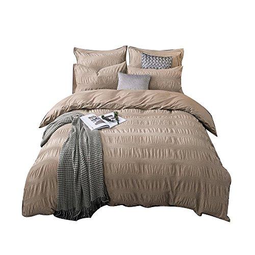 Merryfeel 100% cotton yarn dyed Duvet Cover Set - Full/Queen (300tc Duvet Cover Set)