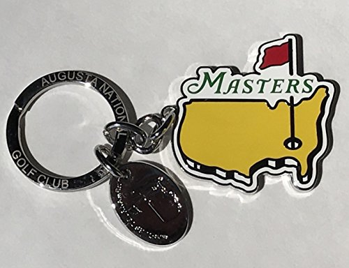 Masters Golf Keychain chrome map logo Augusta National new - Chrome Map