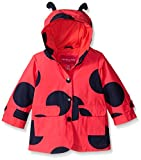 London Fog Baby Girls' Enhanced Radiance Ladybug Rain Slicker, Red, 12 Months