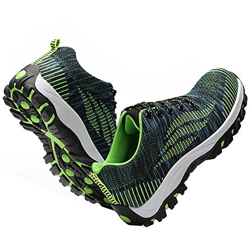 Optimal Shoes Work Steel Green Shoes Shoes Bright Safety Toe Men's 4qr014