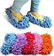 StaiBC 2 X Cute Dust Mop Slippers Shoes Floor Cleaner Clean Easy Bathroom Office Kitchen(Sky Blue)