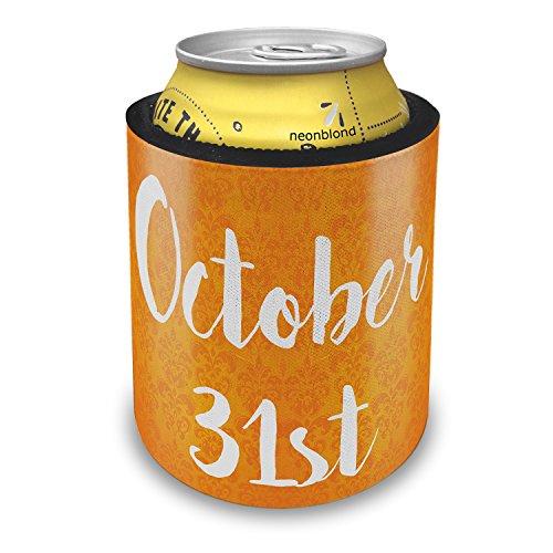 NEONBLOND October 31st Halloween Orange Wallpaper Slap Can Cooler Insulator Sleeve