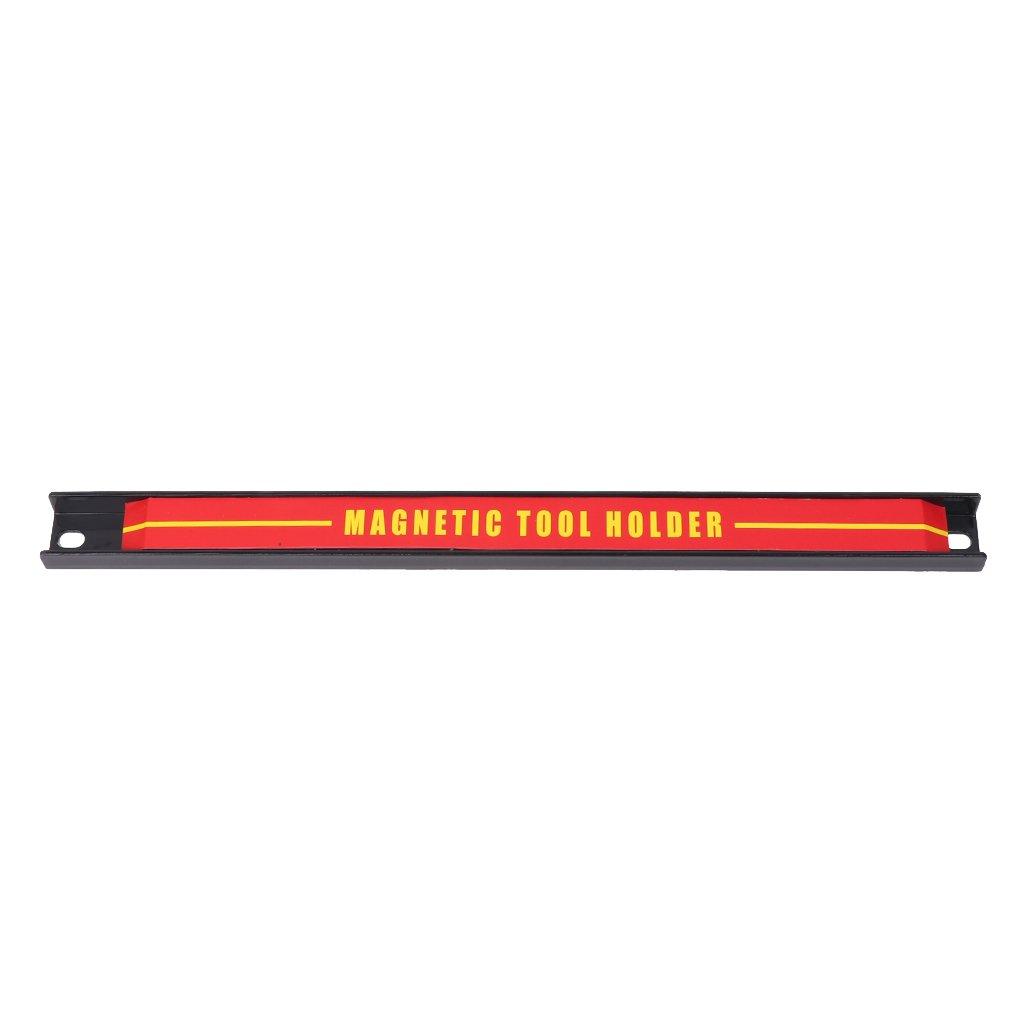 Onpiece 8'' 12'' 18'' Magnetic Tool Holder Bar Racks with 2 Mounting Screws, Metal Magnet Tool Storage Organizer Racks, Great for Garage Workshops (12'')