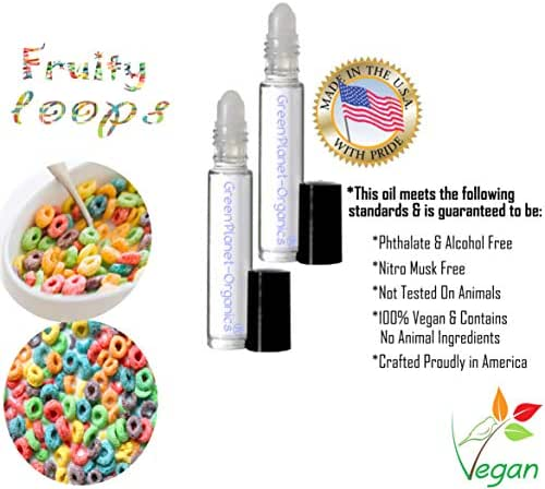 Fruity Loops Perfume Oil (Set of 2 .33oz Each) A deliciously fruity upbeat summer scent!