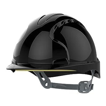 JSP ajf030 – 001 – 100 EVO2 – Casco de seguridad con trinquete, con ranuras de ventilación), color negro: Amazon.es: Industria, empresas y ciencia