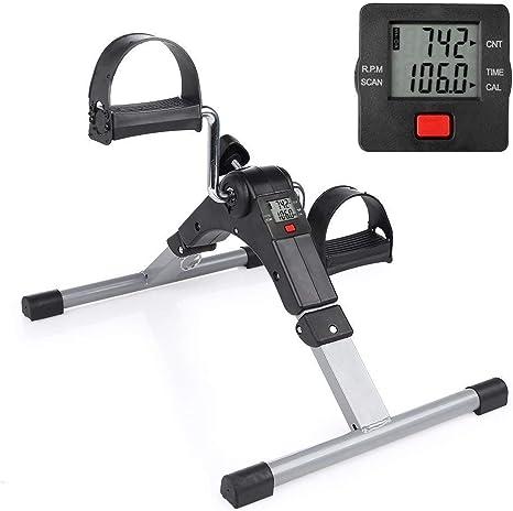 Mini bicicleta estática con pedal resistencia ajustable brazos y ...