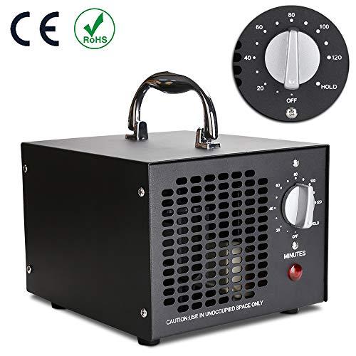 🥇 Wis 5000-OGS Generador de ozono Purificador de Aire de ozono 5000mg / h con Temporizador para la desinfección del esterilizador para automóviles