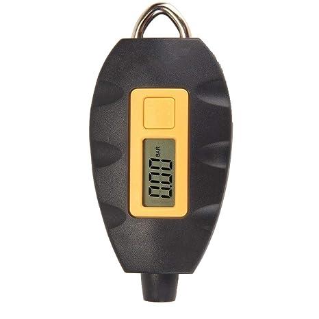 Festnight Tire Gauge Key Ring Universal Portable LCD Digital Electric Multifunctional Vehicle Tyre Pressure Tester Tire Gauge