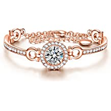 J.NINA Bracelet ♥Gifts for Girls on Graduation♥ Romantic Bracelet with AAAAA Round Brilliant Cutting Cubic Zirconia, Fashion Jewelry Gift for Her with Luxury Gifts Packing