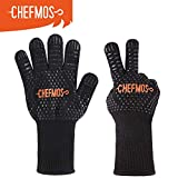oven and grill gloves - Chefmos Grill Gloves,932°F Extremely Heat Resistant BBQ Gloves, 13