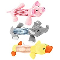 Dog Pet Puppy Plush Sound Chew Squeaker Squeaky Pig Elephant Duck Toys (Yellow Duck)