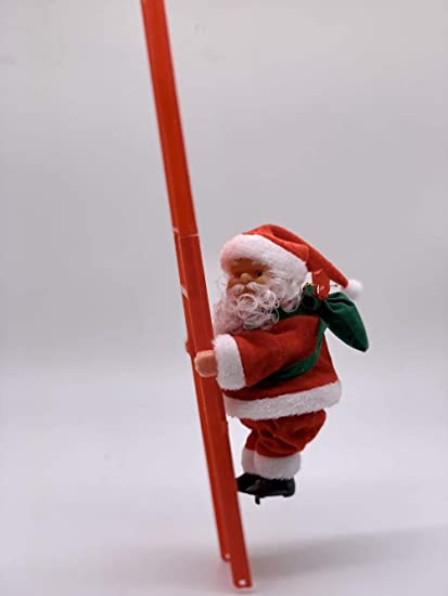 YZYDBK Escalera Escalada Perlas Eléctricas Música Santa Claus ...