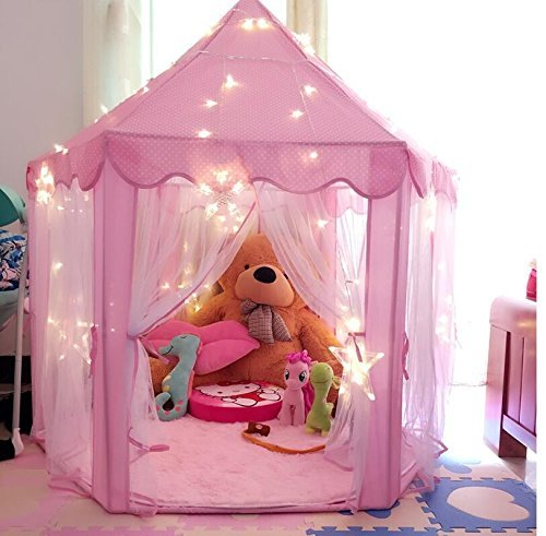 Pink Princess Castle Kids Play Tent Children ... & Pink Princess Castle Kids Play Tent Children Playhouse Great ...