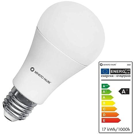 Beneito Faure Standard - Bombilla LED (17 W, E27, 2700 K, luz