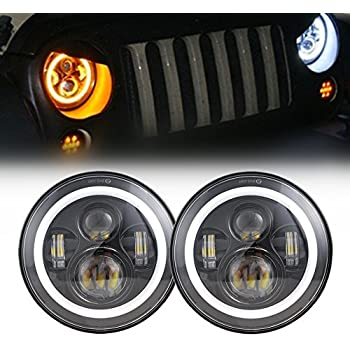 Amazon Com Sup Light Pair 7 Inch 45w Led Headlights With