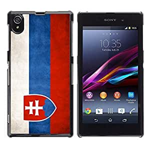 Graphic4You Vintage Slovak Flag of Slovakia Design Hard Case Cover for Sony Xperia Z1