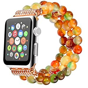 New IWatch Elegant Replacement Fashion Sports Wristwatch Women Beaded Outdoor Bracelet Strap Band For Apple Watch Series 3/2/1 42mm