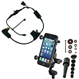 BuyBits Bike Bundle with High Power DIN Charger, RAM X-Grip & Fork Stem Mount for iPhone 6 plus (5.5)
