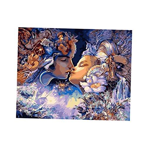 Homyl Unframed Digital DIY Paint By Number Kit Scenery Oil Painting on Canvas 50cm x40cm - Fairy Lover
