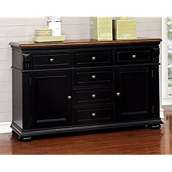 Amazon Com Harwick Black Credenza Sideboard Buffet Table