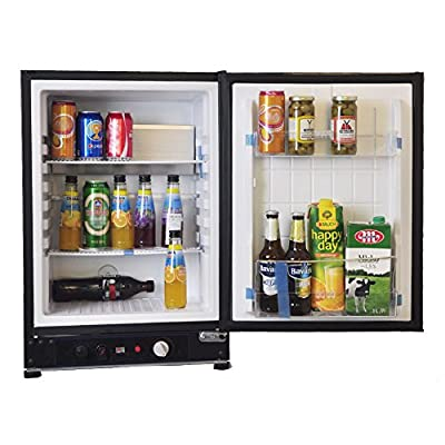 SMAD AC/DC/LPG Compact Truck Refrigerator with Gas Thermostat,2.1 Cu.ft,Black