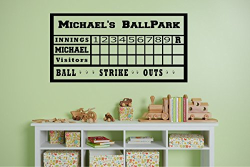 Personalized Baseball Theme Party home Plate Kids room inspiration DIY home decor bedroom wall art