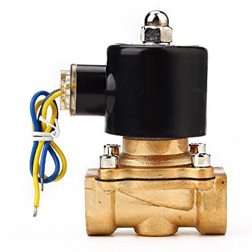 Water Air Gas Fuel Electric Solenoid Valve (Black) - 4