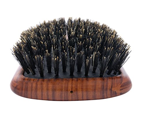 Spornette DeVille Cushion Paddle Boar Bristle Brush (#344) with Wooden Handle Best for Straightening, Smoothing, Detangling & Styling All Hair Types for Women, Men, and (Flat Paddle Hair Brush)