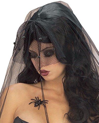 Dia de los Muertos Day of the Dead Gothic Wig With Veil -