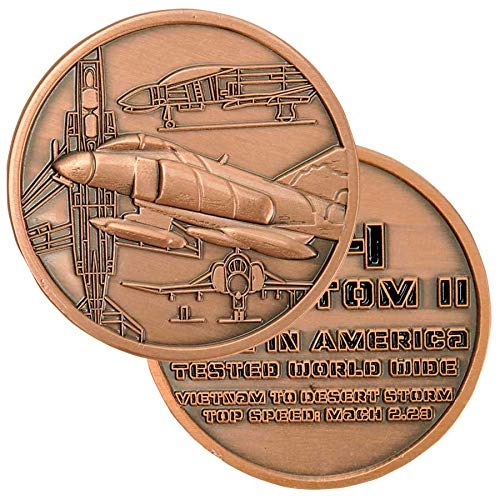 Medals of America F 4 Phantom Challenge Coin Bronze