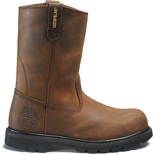 Caterpillar Men's Revolver Steel Toe  Dark Brown Boot 11 E - Wide - Dark Brown Slip