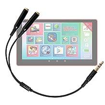 """Adaptateur double pour écouteurs stéréo Jack 3.5 mm pour Lexibook LEXITAB MFC146FR 7"""" et LEXITAB MFC511FR 10"""" tablette enfant - DURAGADGET"""