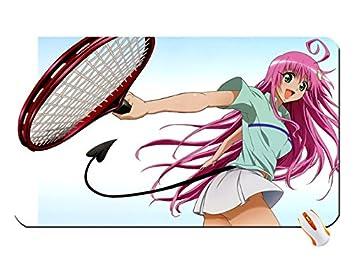 Sports Tennis To Love Ru Pink Hair Anime Girls Ra Big Mouse Pad Dimensions