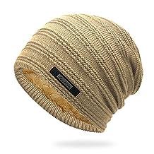 ZEGOO Warm and Fashion Knit Winter Hat Khaki