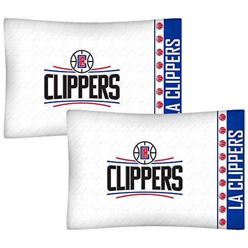 - 2pc NBA Los Angeles Clippers Pillowcase Set Basketball Team Logo Bedding Pillow Covers