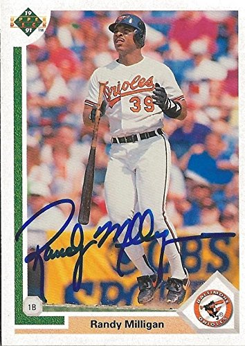 Randy Milligan 1991 Upper Deck Autograph #548 Orioles