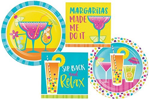 Summer Cocktail Fun Party Supply Pack! Bundle Includes