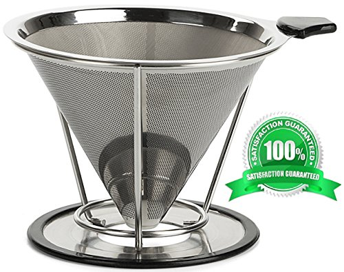 Filter Coffee Dripper Best Paperless Stand Clever Stainless product image