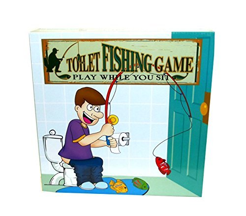 Island Dogs Toilet Fishing Novelty Game Set, 10 pieces - http://coolthings.us