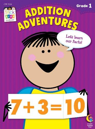Addition Adventures Stick Kids Workbook, Grade 1 (Stick Kids Workbooks)