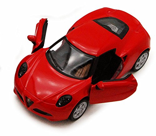 Kinsmart 2013 Alfa Romeo 4C, Red 5366D - 1/32 scale Diecast Model Toy Car, but NO BOX