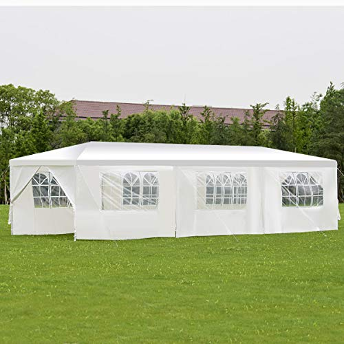 BenefitUSA Wedding Party Tent Outdoor Camping 10'x30' Easy Set Gazebo BBQ Pavilion Canopy Cater Events