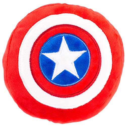 Dog Captain America (Buckle Down Dog Toy Plush Captain America Shield Red White Blue)