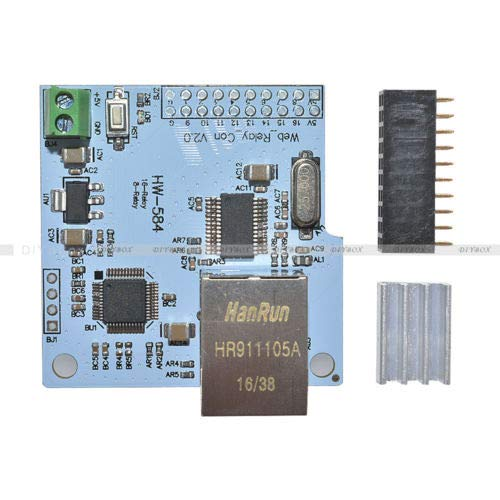 (FidgetFidget Network Controller Module for Relay Module Board Smart Home 8/16 bit ENC28J60)